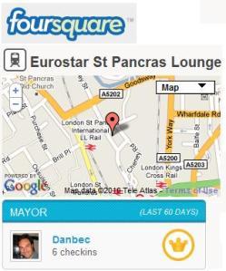 Eurostar lounge foursquare