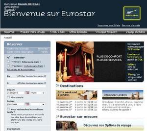 Eurostar website